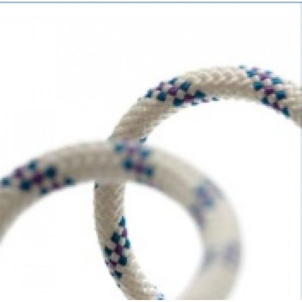 Въже Standard Ø 8 мм, бяло със син маркер