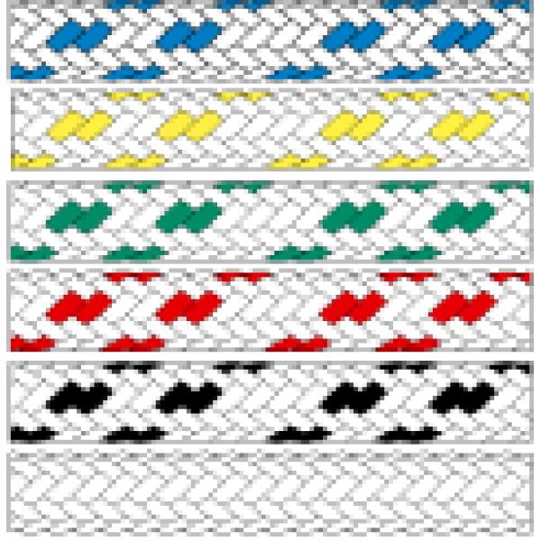 Въже Gemini  Ø 12 мм, бяло/червено