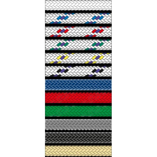 Въже Tasmania, Ø6 мм, бяло със син/лилав маркер