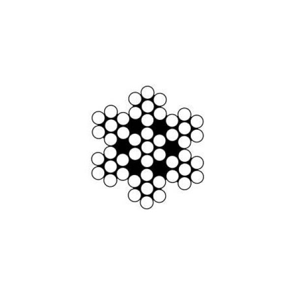 Проволка неръждаема 7х7, Ø 0,8 мм