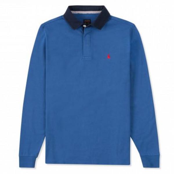Блуза с яка мъжка Rugby Empire, синя