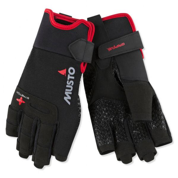 Ръкавици Performance, къси пръсти, черни
