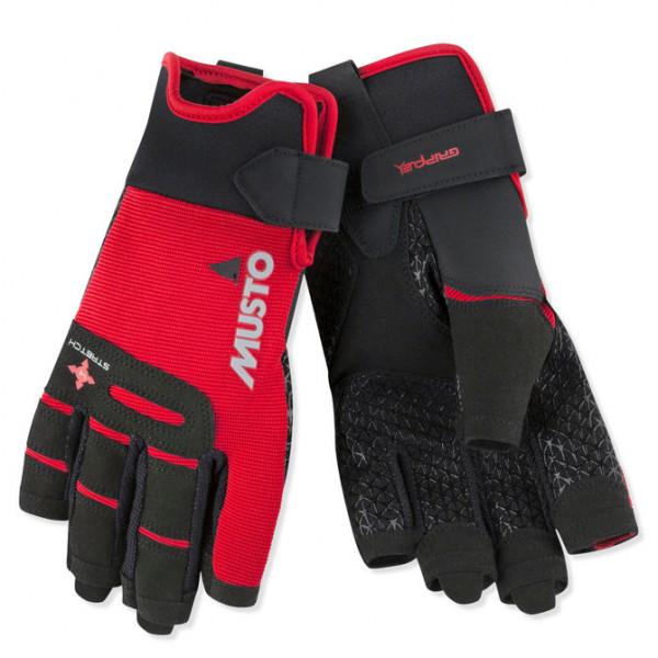 Ръкавици Performance, къси пръсти, червени