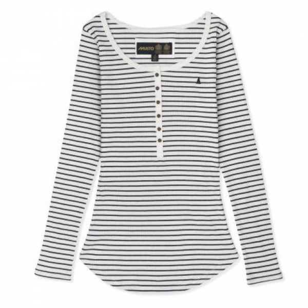 Блуза дамска HARBOUR STRIPE MUSTO бяло/тъмно синьо