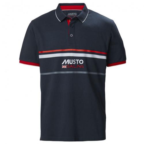 Тениска Amalfi Polo, тъмно синя