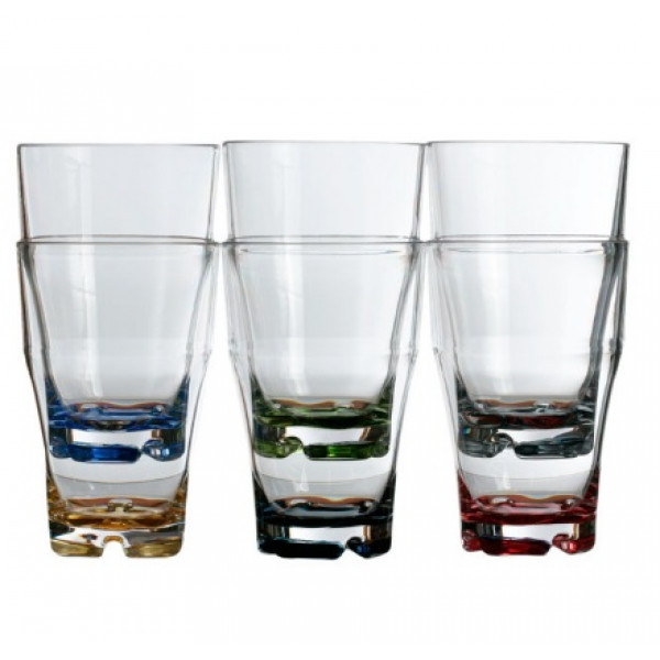 Чаша за напитки PARTY с цветно дъно 6 бр. MARINE BUSINESS