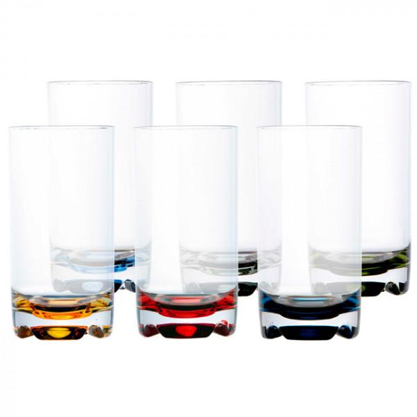 Чаша за напитки PARTY - цветна основа, 6 бр