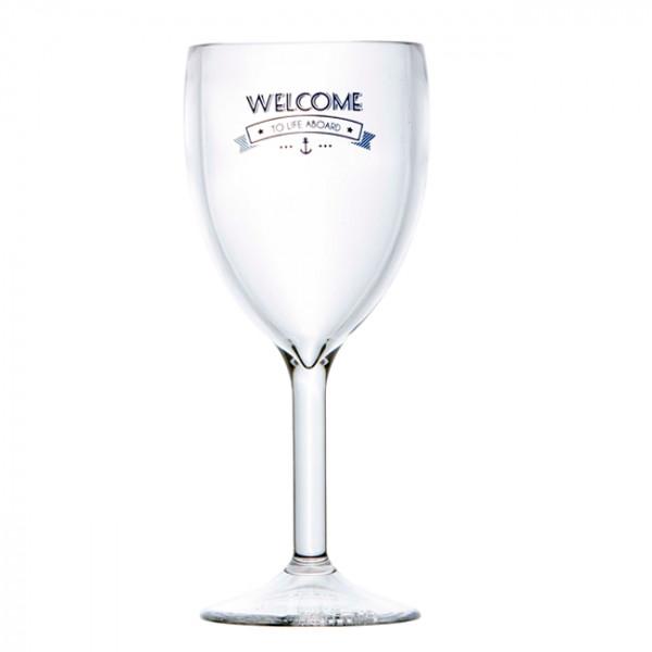 Чаша за вино Welcome To Life, 6 бр