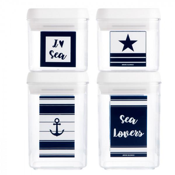 Комплект кутии SEA LOVERS, 4 бр
