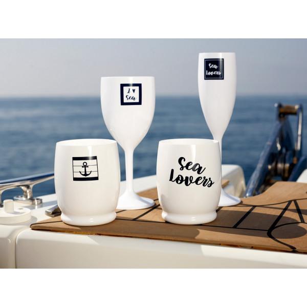 Водна чаша SEA LOVERS с котва, 6 бр
