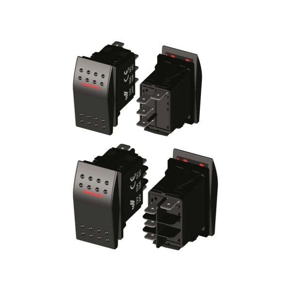 LED IP68 водоустойчив превключвател, (On)-Off