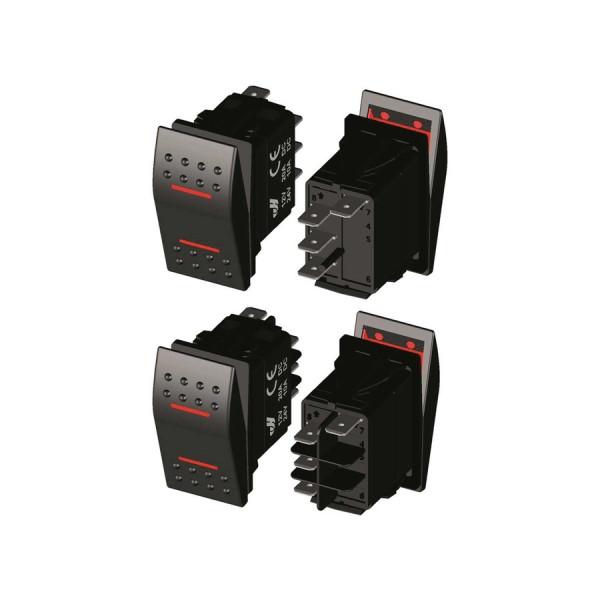 LED IP68 водоустойчив превключвател, (On)-Off-(On)