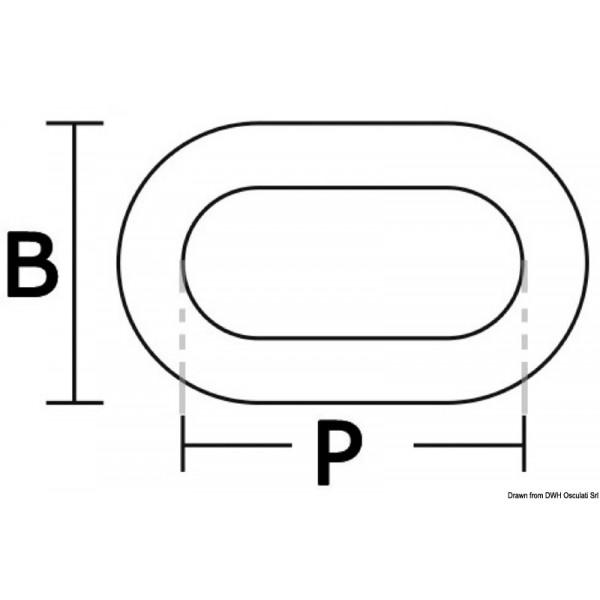 Неръждаема калибрирана верига Ø 6 мм
