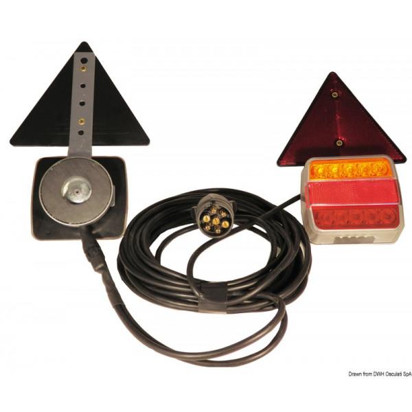 Комплект LED светлини с магнитно монтиране, 4 функции
