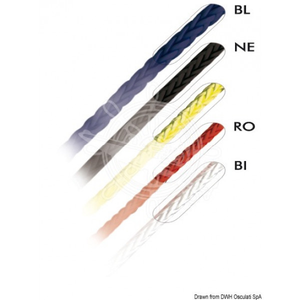 Въже MARLOW Ø 2,5/4/6 мм D12, червено