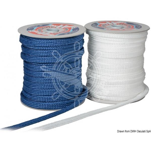Въже за кранци 10 мм, синьо и бяло