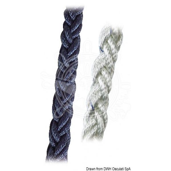 Въже 8-жилно, полиестер, синьо, Ø 12-20 мм