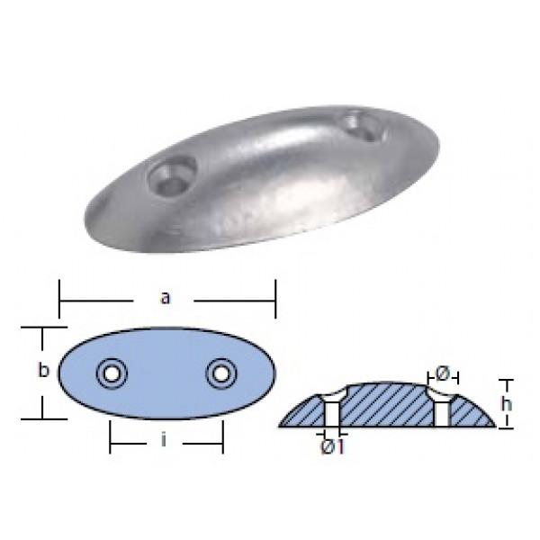 Анод овален, 0.190 кг